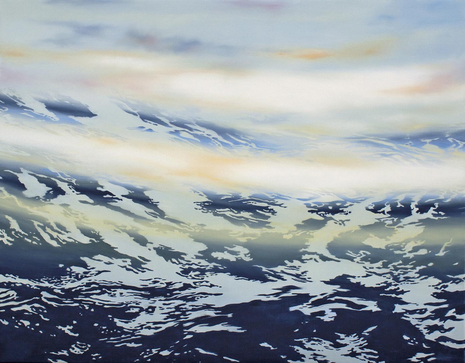Höhenzug 2013, 120 x 150 cm, Öl auf Leinwand  Mountain Ridge 2013