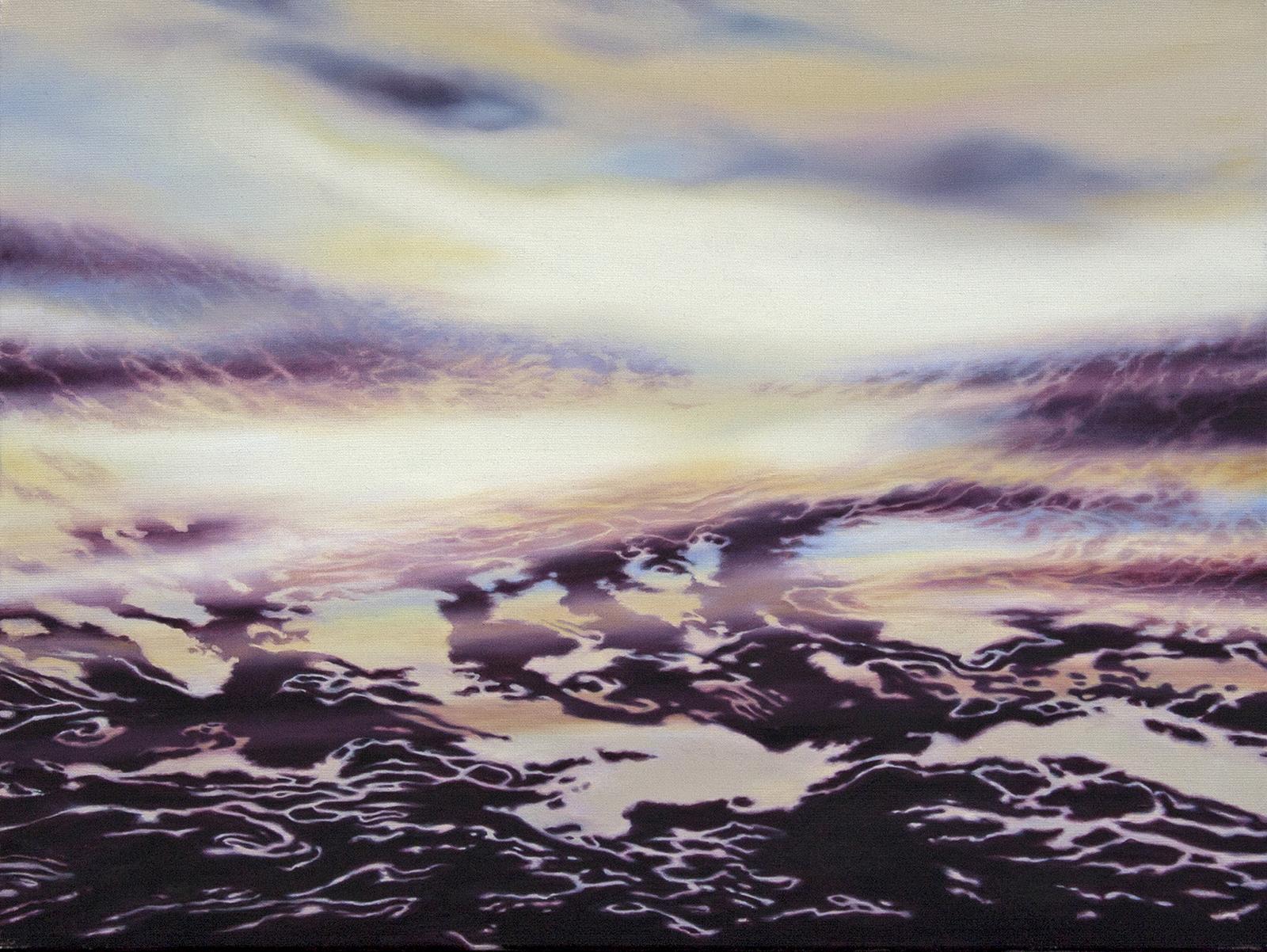 Nebeltreiben 2013, 60 x 80 cm, Öl auf Leinwand  Floating Fog, oil on canvas