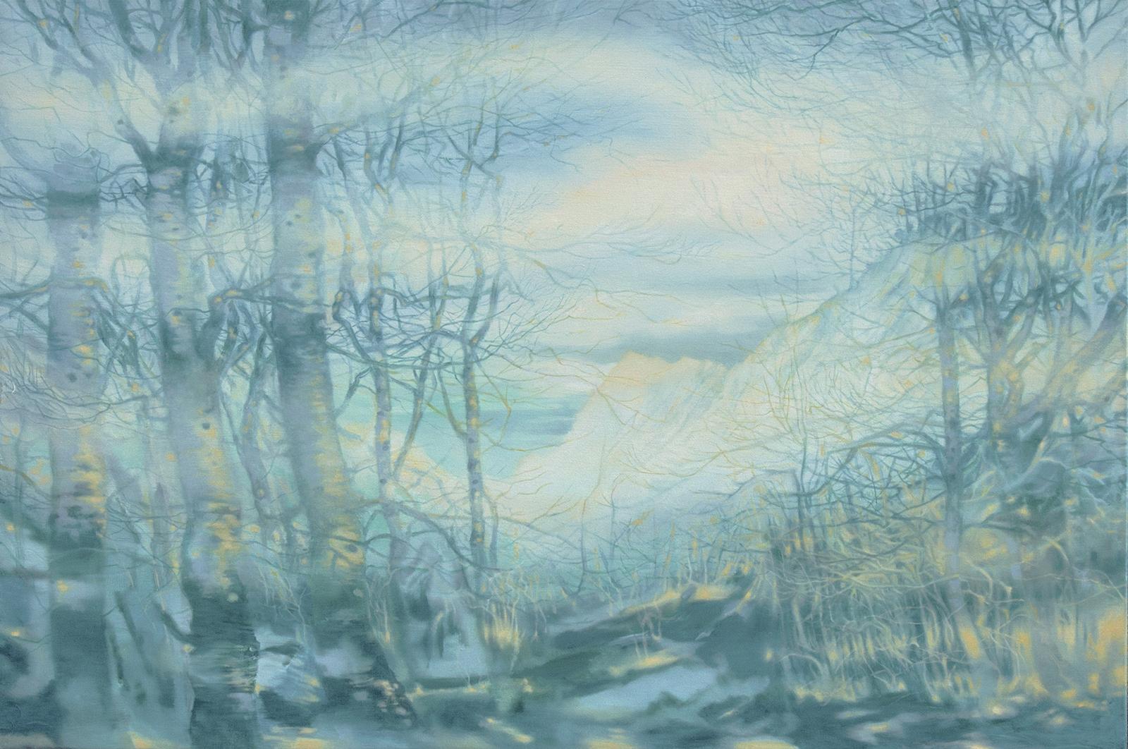 Weiße Küste 2017, 80 x 120 cm, Öl auf Leinwand  White Coast 2017, oil on canvas
