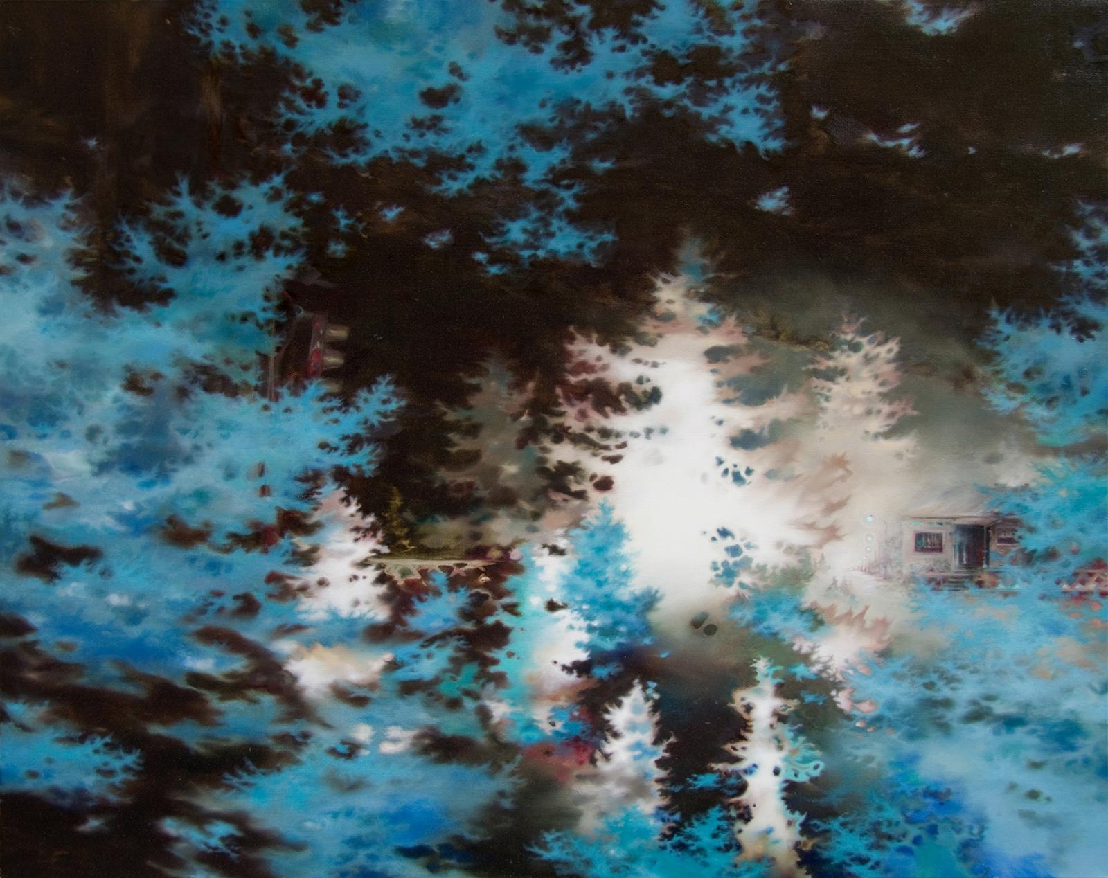 Waldrausch 2011, 120 x 150 cm, Öl auf Leinwand, Forest Flush 2011