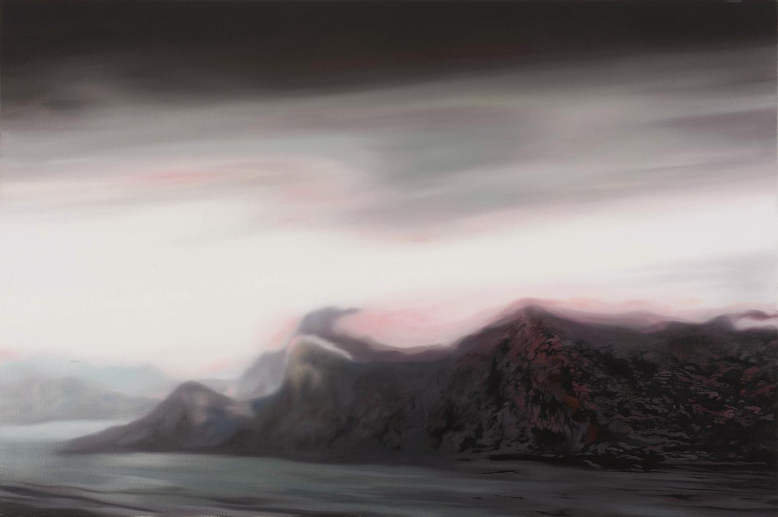 Nordische Landschaft 2007, 80 x 120 cm, Öl auf Leinwand  Nordic Landscape 2007, 80 x 120 cm, oil on canvas