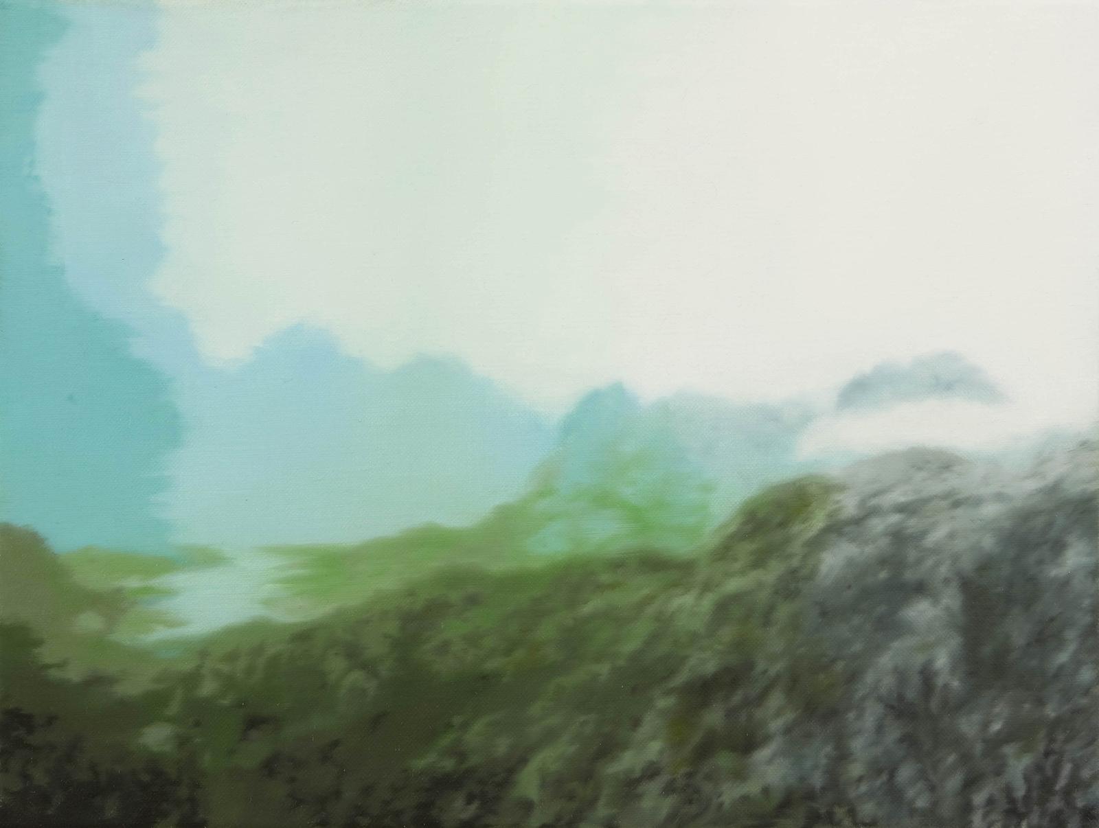 Fjordlandschaft 2006, 30 x 40 cm, Öl auf Leinwand  Fjord Landscape 2006, oil on canvas