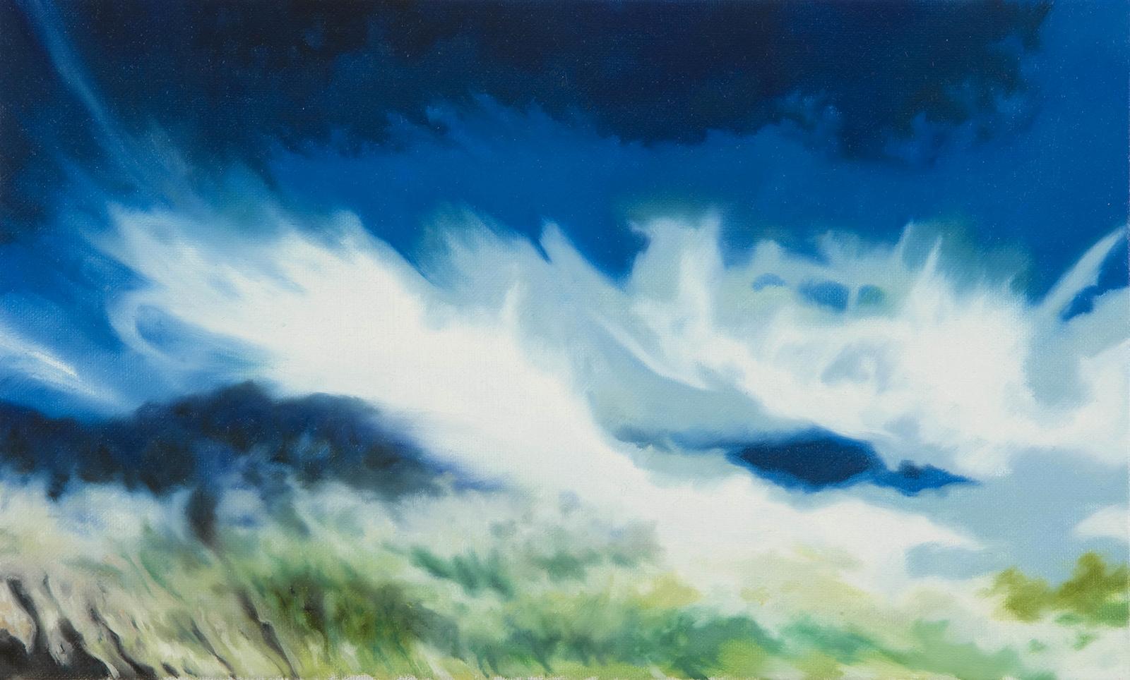 Norwegische Landschaft 2008, 20 x 33 cm, Öl auf Leinwand  Norwegian Landscape 2008, oil on canvas