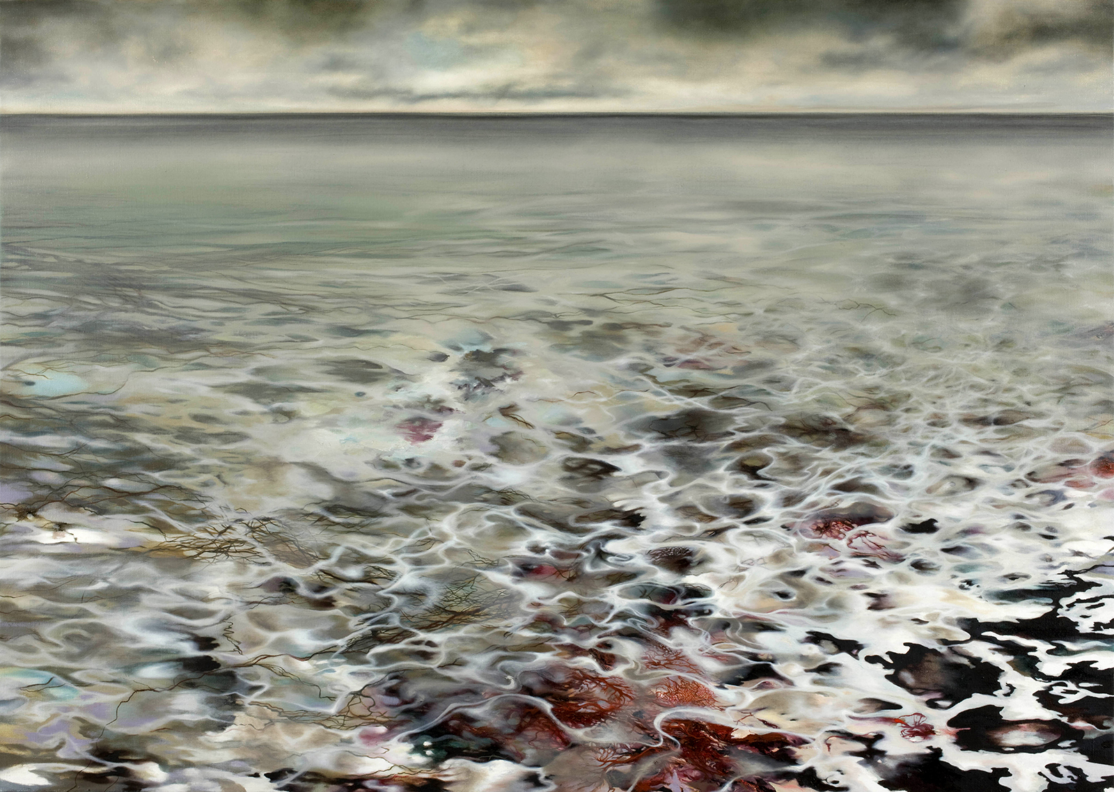 Meeresgrund 2005, 100 x 140 cm, Öl auf Leinwand  Ocean Floor 2005, oil on canvas