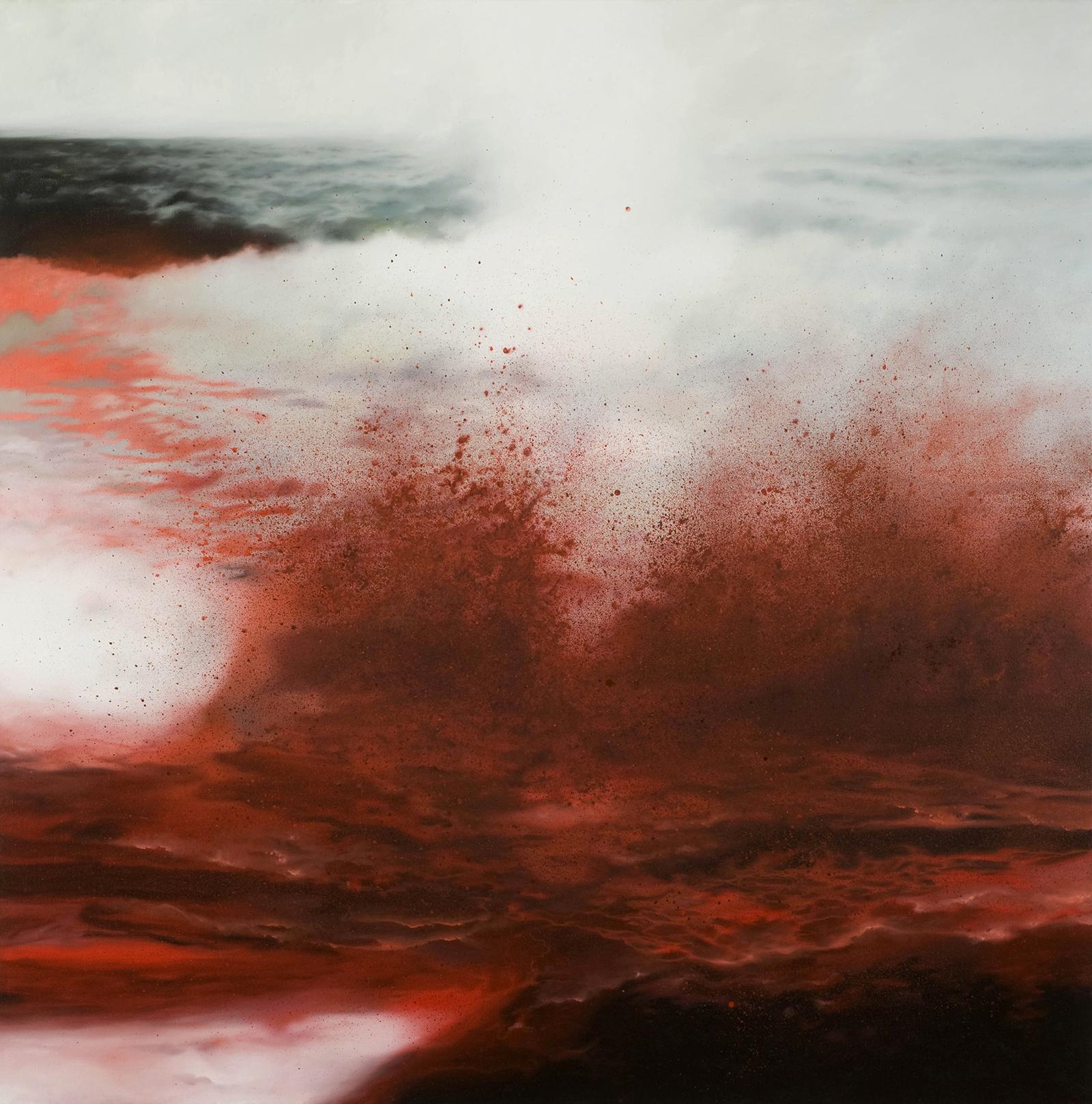 Nordmeer 2006, 120 x 120 cm, Öl auf Leinwand  North Atlantic 2006, 120 x 120 cm, oil on canvas