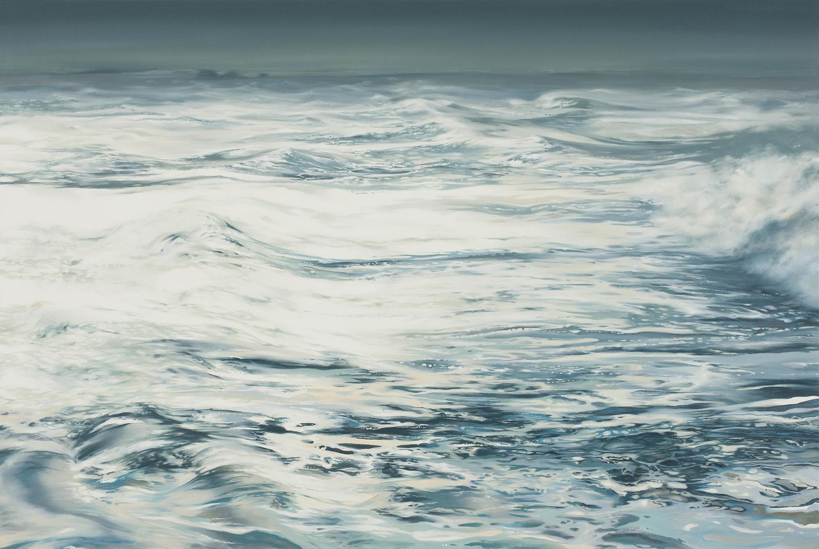 Hiddensee (Sturm) 2005, 80 x 120 cm, Öl auf Leinwand  Hiddensee (Storm) 2005, 80 x 120 cm, oil on canvas