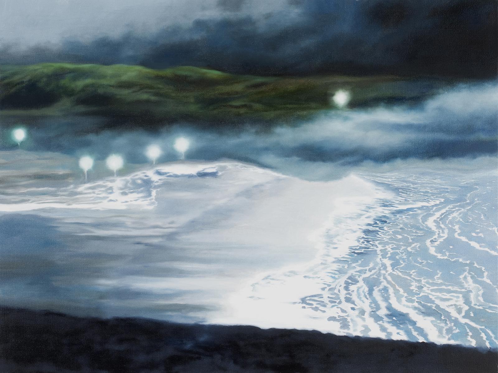 Nachtwache 2009, 60 x 80 cm, Öl auf Leinwand  Night Watch 2009, oil on canvas