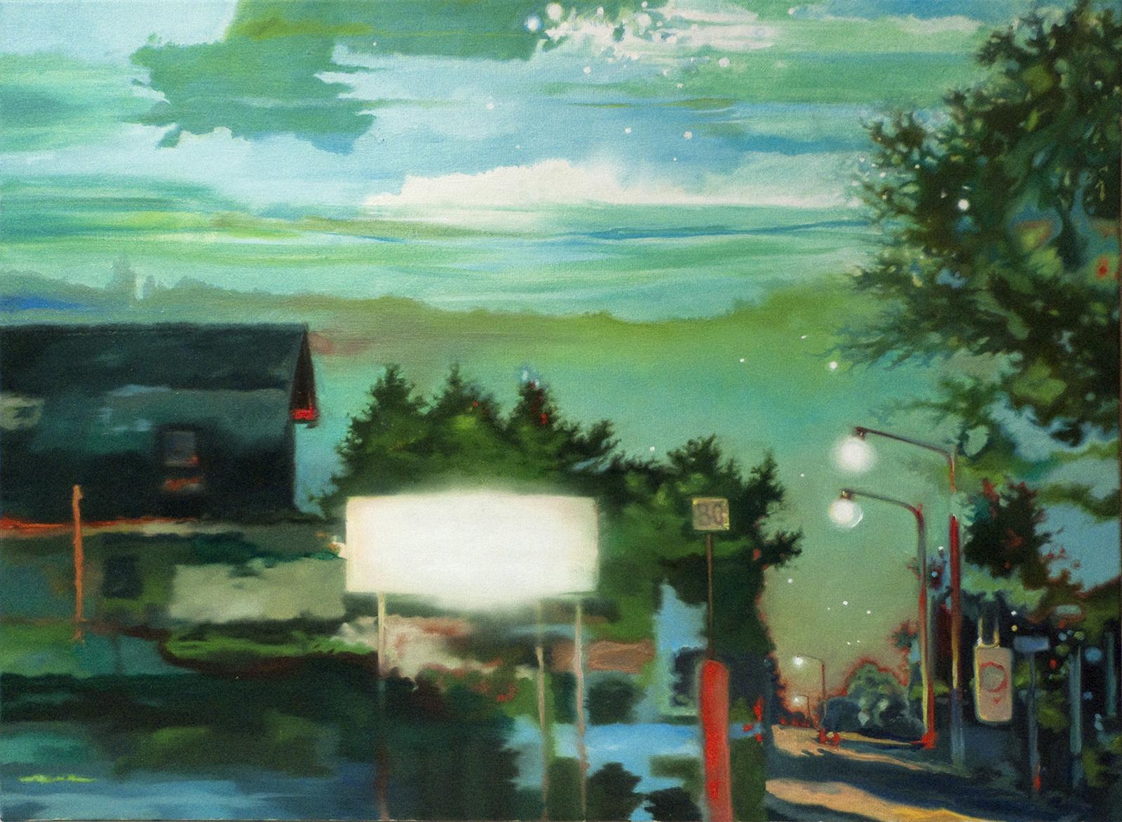 Randgebiet 2010, 60 x 80 cm, Öl auf Leinwand  Fringe Area 2010, oil on canvas