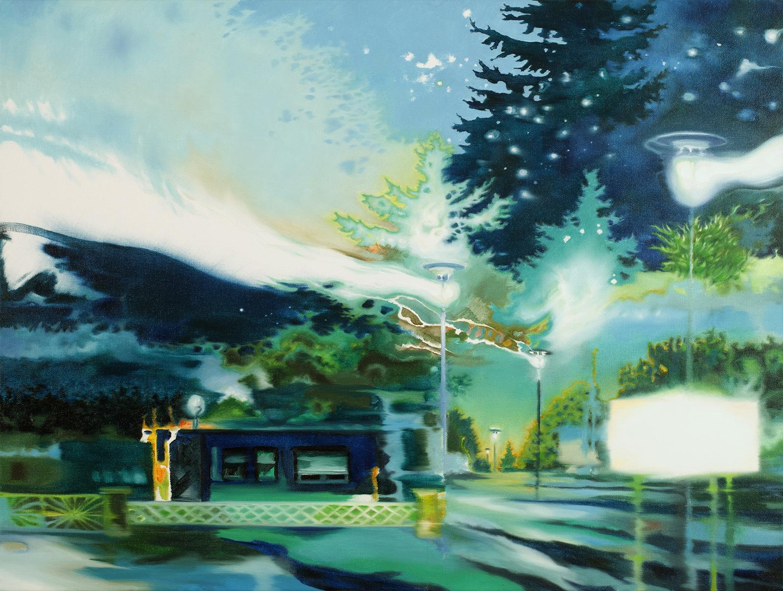 Private Sphäre 2010, 60 x 80 cm, Öl auf Leinwand  Private Domain 2010, oil on canvas