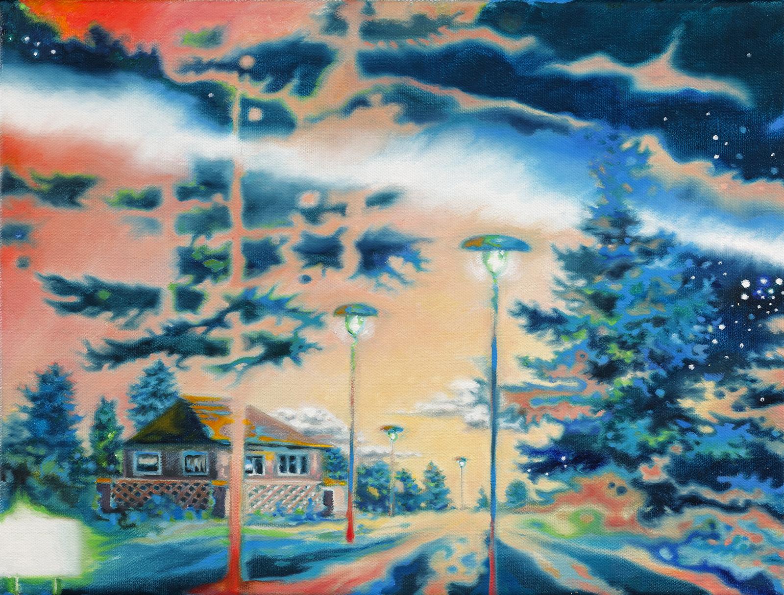 Refugium 2010, 30 x 40 cm, Öl auf Leinwand  Hide Away 2010, 30 x 40 cm, oil on canvas