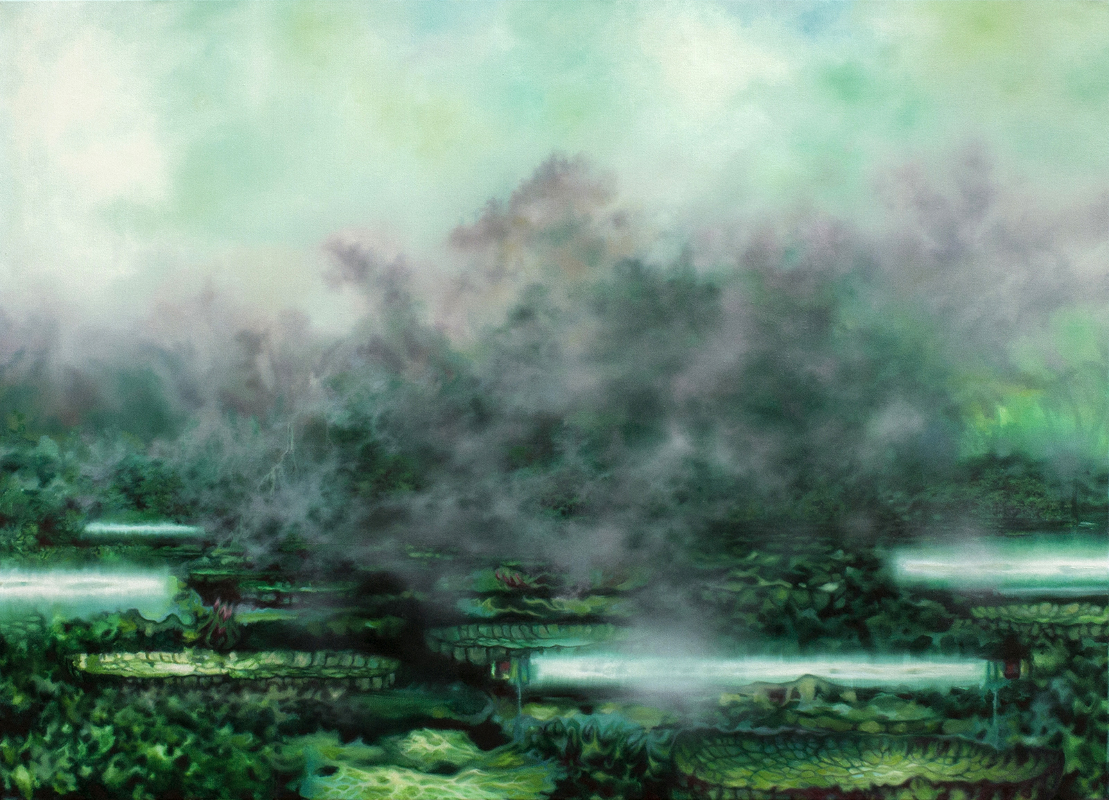 Labor der Natur 2017, 100 x 140 cm, Öl auf Leinwand  Laboratory of Nature 2017, 100 x 140 cm, oil on canvas